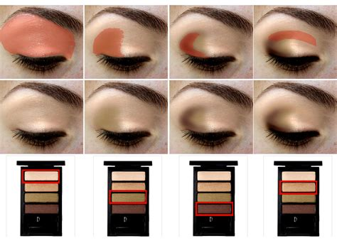 tutorial on eyeshadow application eye shadow quads demystified the untrendy girl a