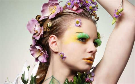 mujer con flores imagenes bonitas de mujer romanticas mujer con adorno de flores hd 1440x900 imagenes