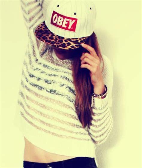 imagenes tumblr obey chavas con gorras planas obey imagui