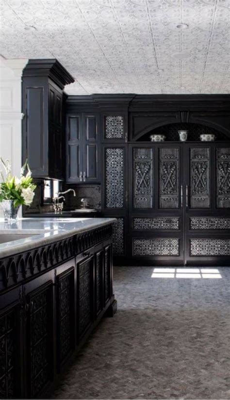 black kitchens     gothic