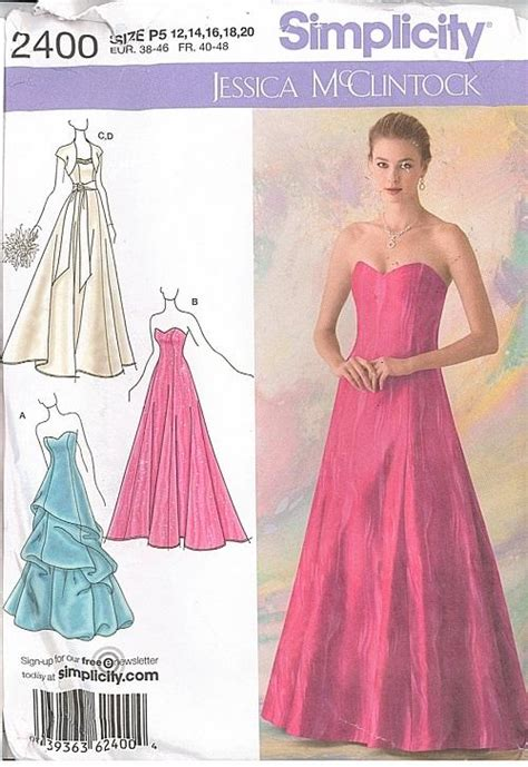 sewing pattern evening gown misses formal prom bridal evening gown cocktail dress