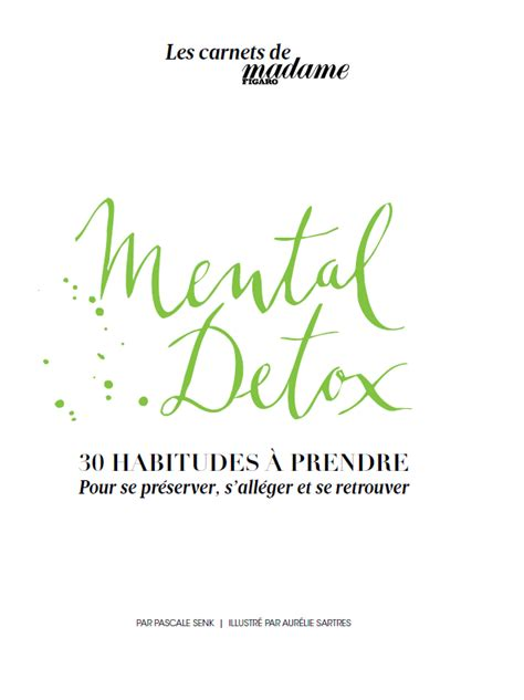 Mental Detox by Quot Mental Detox Quot Le Carnet 224 Toujours Garder Dans Sac