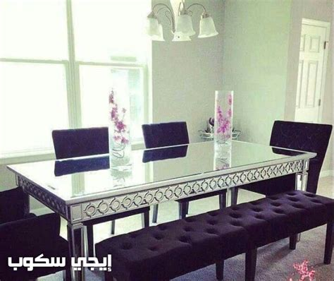 Dining room table with chairs and bench