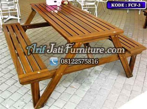 Kursi Lipat Panjang kursi cafe lipat kayu jati arif jati furniture
