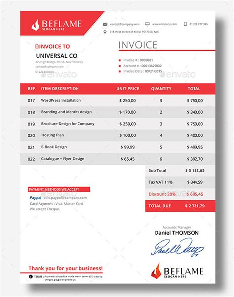 design business invoice 15 best invoice templates to create your first invoice