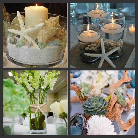 centerpieces elegant beach wedding decor dreamday s