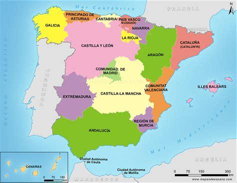 Offer Letter Español 53 mapa de las autonomas de espaa mapa interactivo de espana comunidades autonomas espana
