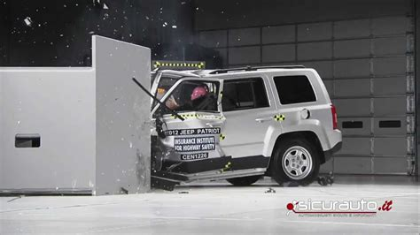 Jeep Patriot Crash Test Crash Test Small Overlap Iihs Jeep Patriot