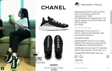 Harga Chanel Pharrell Adidas edisi terbatas sepatu branded syahrini ini harganya