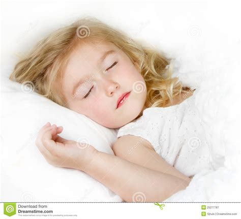 In Bed by Sleeping Child In Bed Royalty Free Stock Photography