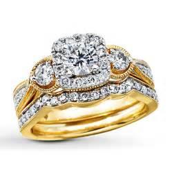 gold wedding set yellow gold bridal sets kays wedding ring sets