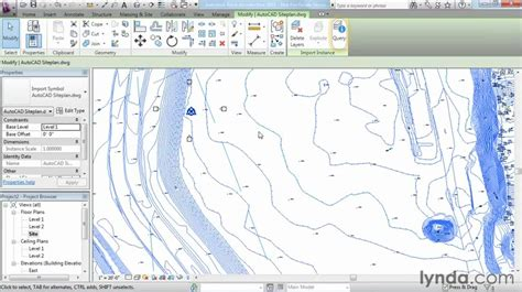 revit tutorial topography revit architecture how to work with dwg files lynda com