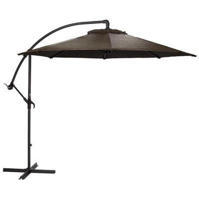 Home Depot Patio Umbrella Home Decorators Collection 10 Ft Cantilever Patio Umbrella In Mocha With Black Frame 6249610430