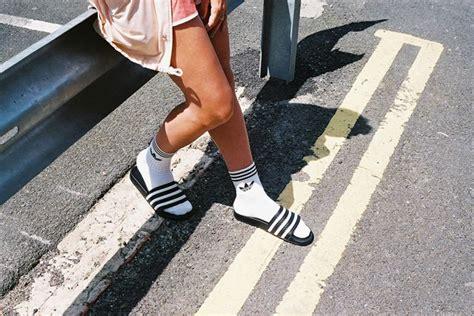 imagenes chanclas nike adidas socksnslides wearing socks with sandals
