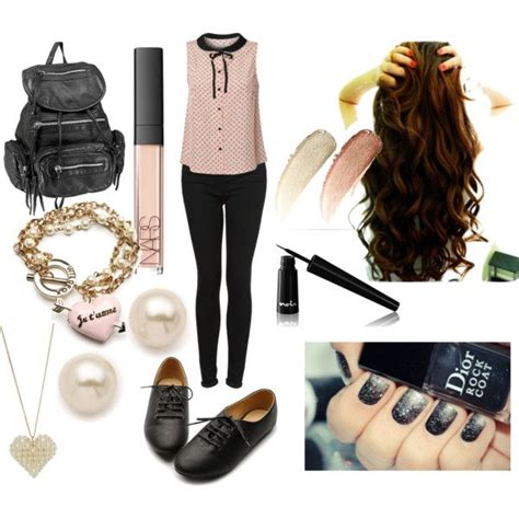 cute hairstyles polyvore 35 best middle school outfits images on pinterest