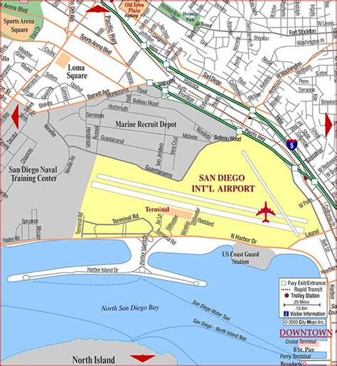 san diego airport map map california airports