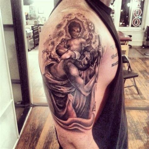 saint christopher tattoo christopher done by clay mccay at anonymous