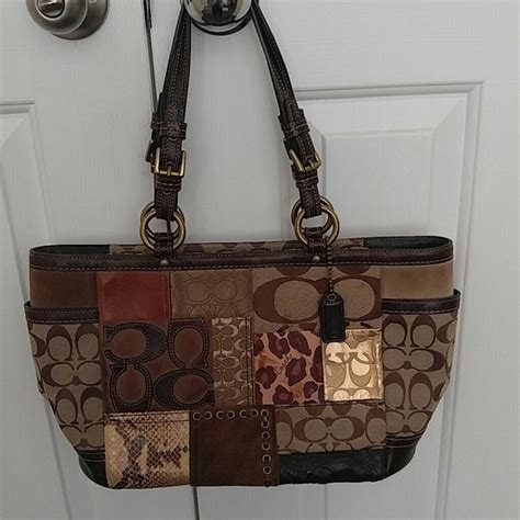 Coach Patchwork Shoulder Bag - 54 coach handbags coach patchwork shoulder bag from