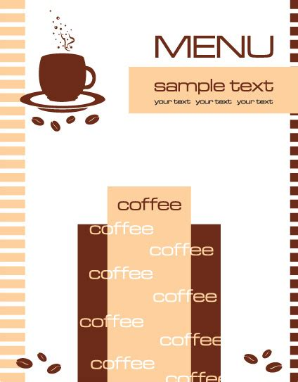 Free Cafe Menu Templates by Doc 424543 Cafe Menu Template Vector Cafe Menu