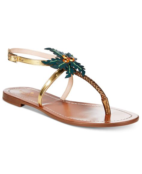 palm sandals for kate spade solana palm tree sandals in multicolor gold