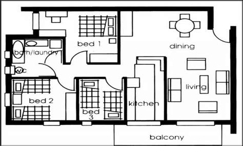 Plan Of House With Three Bedroom by 3 Bedroom House Plans Small House Plans 3 Bedrooms 3