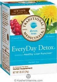 Traditional Medicinals Liver Detox Tea by Traditional Medicinals Kosher Everyday Detox 16 Tea Bags