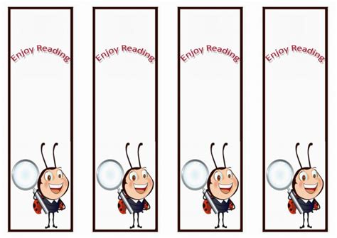 printable ladybug bookmarks ladybug bookmarks birthday printable