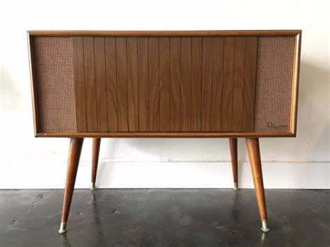 stereo cabinet with turntable shelf mid century magnavox stereo hifi turntable 1960s vintage