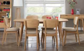 Six Seater Dining Table And Chairs Oslo Oak 6 Seater Dining Table Choice Of 6 Dining Chairs