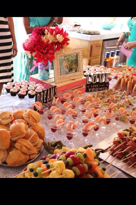 food for lunch bridal shower bridal shower food display made by me