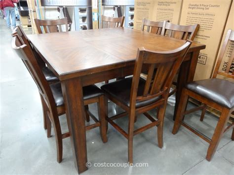 costco counter height dining table regal living chandler 9 counter height dining set