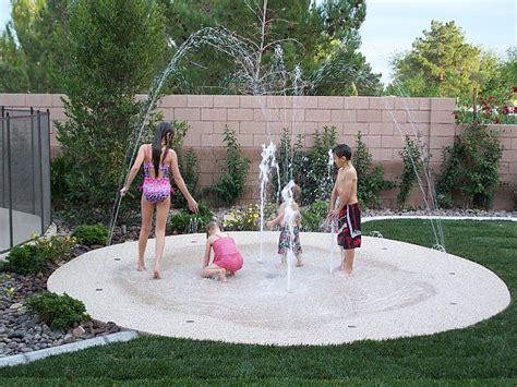 becky hanson backyard splash pad no up keep small