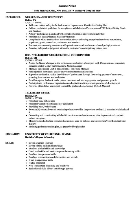 Telemetry Resume by Telemetry Resume Resume