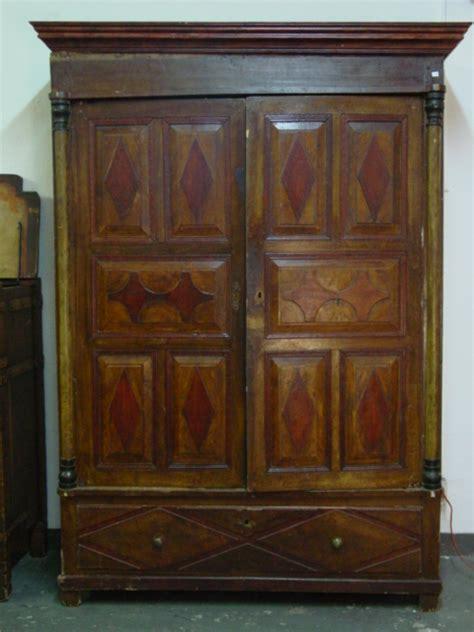 Vintage Cabinet Doors Handpainted Antique 2 Door Cabinet