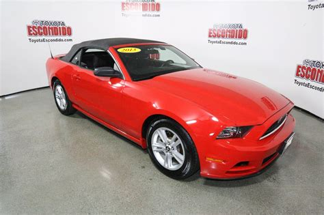 mustang pre owned pre owned 2013 ford mustang convertible in escondido