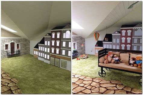 Black And Gray Bathroom Ideas attic game room kids dream town home interior design