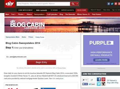 2014 Blog Cabin Sweepstakes - diy network blog cabin sweepstakes sweepstakes fanatics