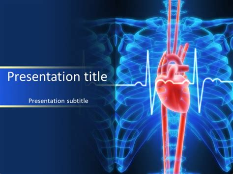 cardiac ppt template free cardiac powerpoint templates the highest quality