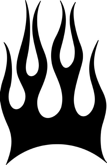 stencil flames patterns blaze flame stencil basic