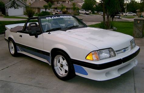 1991 saleen mustang oxford white 1991 saleen ford mustang convertible