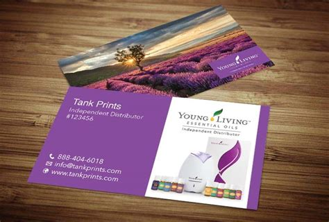 young living business card template oils pinterest young