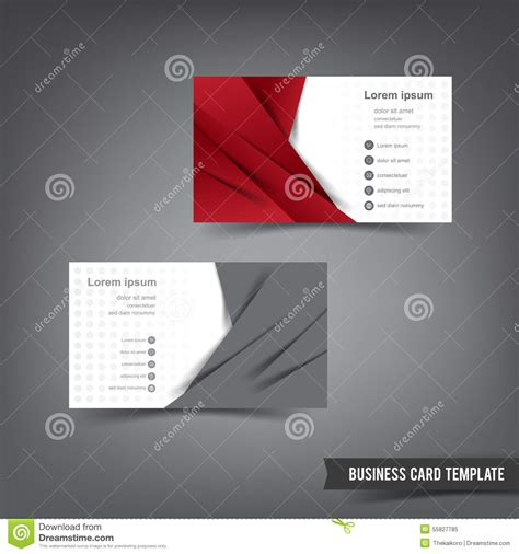 Business Card Template Grey by Business Card Template Set 027 And Grey Layer Overlab