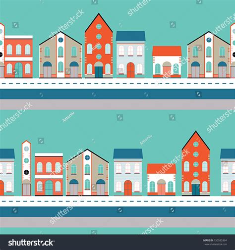 house pattern image house buildings home seamless background pattern
