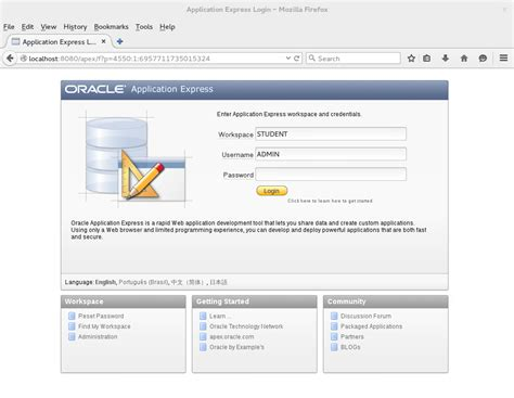 tutorial oracle database 11g b apex sql query at database tutorial