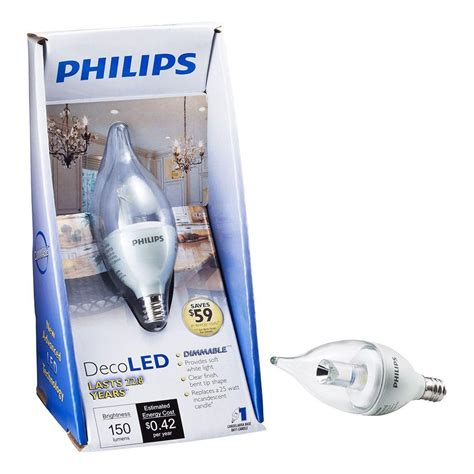 Led Philips 3 Watt philips 3 5 watt 25 watt ba11 soft white 2700k decorative candelabra base led light bulb