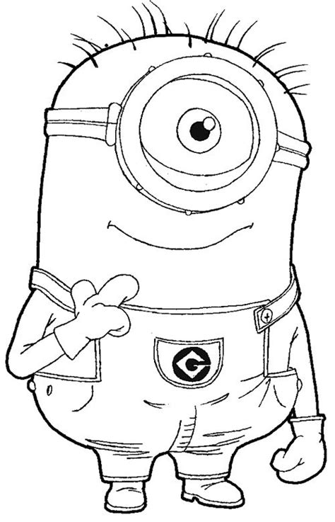 minions kevin coloring pages step step 097 how to draw kevin the minion from despicable