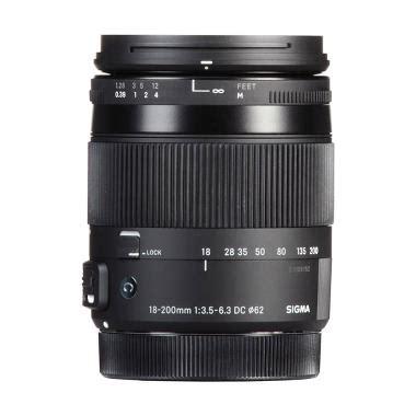 Lensa Sigma 18 200mm Untuk Canon jual lensa perlengkapan lensa kamera sigma terjamin blibli