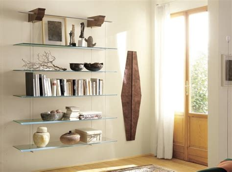 glass wall shelves for living room nuvola glass shelves by cattelan italia modern living