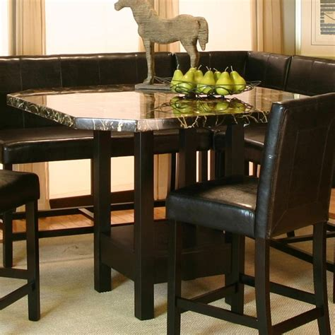 chatham square clipped corner pub table  faux marble top