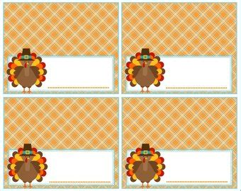 thanksgiving food label cards template popular items for food labels on etsy